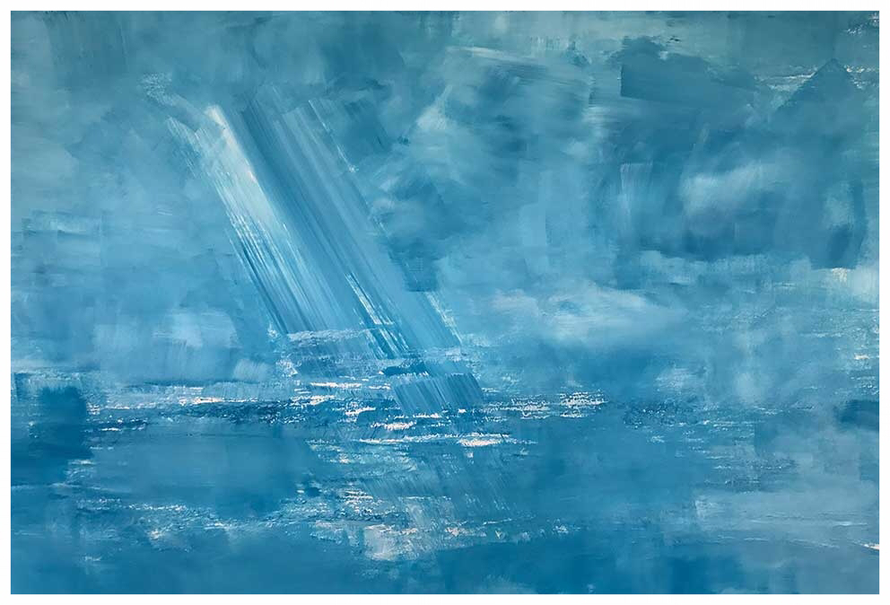 Wind über dem Meer, Mai 2017, 60 x 87 cm, Rembrandt Acryl, Verkauft, Copyright by Martin Uebele