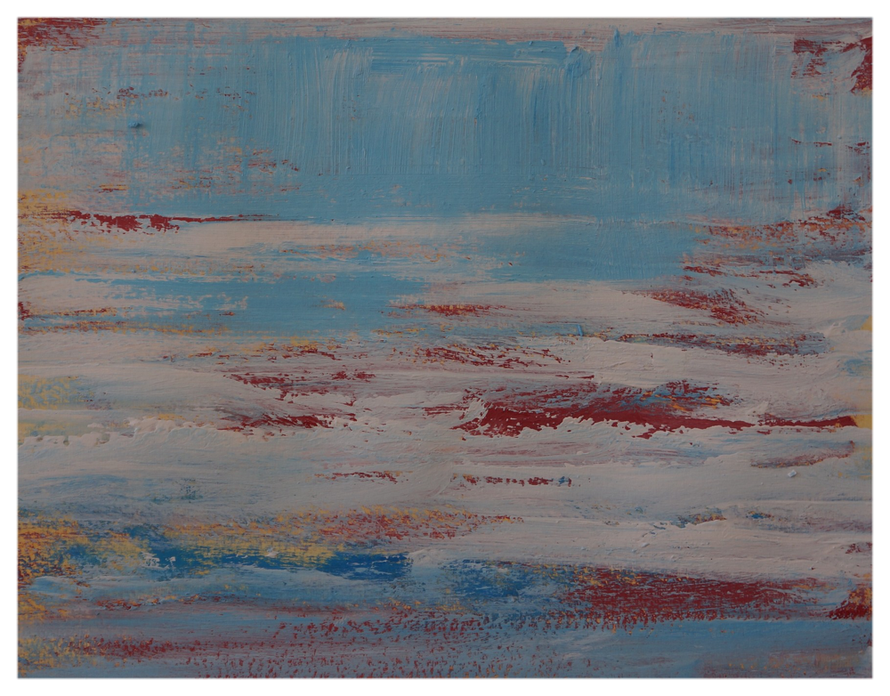 Aus meinem Bildertagebuch, Zartes Gefühl, Februar 2015, 41 x 32 cm, Copyright by Martin Uebele