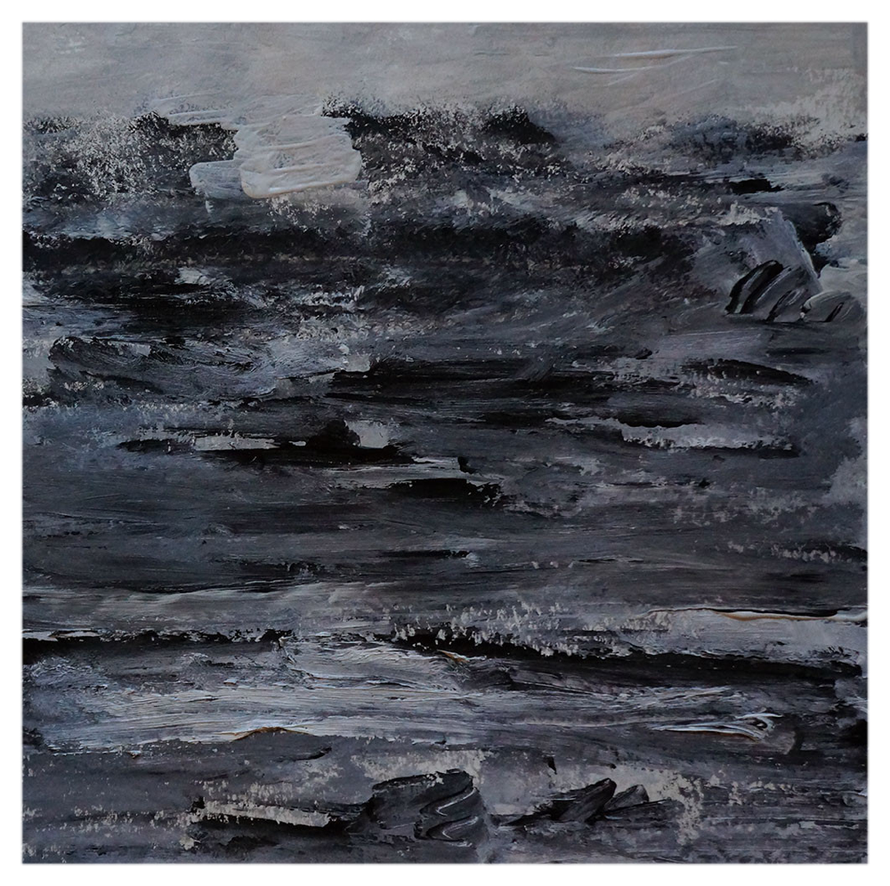 Sturm im Meer vor Saint Clair, 40 x 40 cm, 27.11.2014, copy right by martin uebele