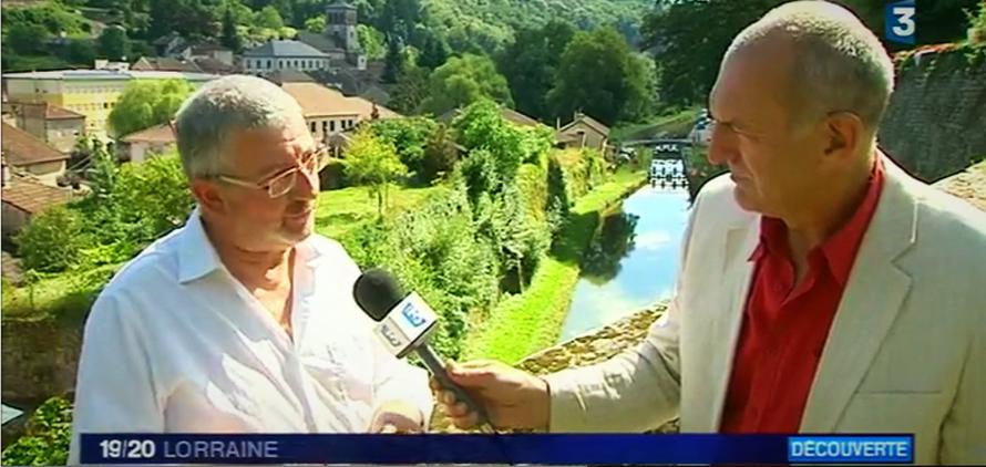 Notre président interviewé par Jean-Pierre Petitcolas de France 3 Lorraine (c) Capture d'écran France 3 Grand Est