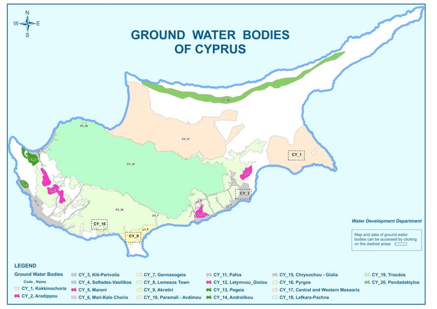 Main aquifers in Cyprus (http://www.moa.gov.cy/moa/WDD/WDD.nsf/resources_en/resources_en?OpenDocument).