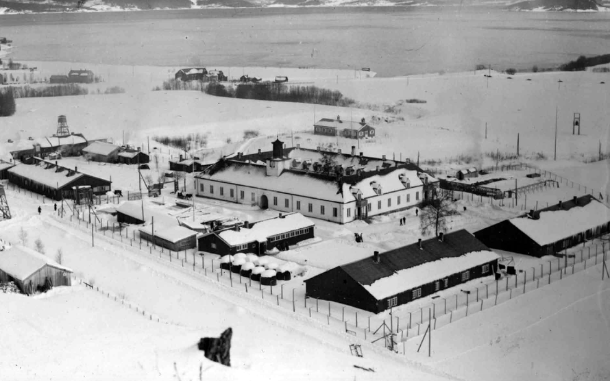 Innherad Forced Labour Camp where 3,000 Norwegians served sentences for treason between 1945 and 1949. It was previously a refomatory school and a German prison camp. It is now the Falstad Centre.