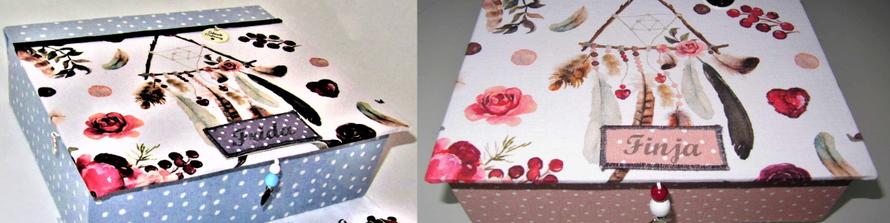 handgemachte, personalisierte Schmuckbox  mit Rosen , mit Klappdeckel und Spiegel von SchönsteOrdnung