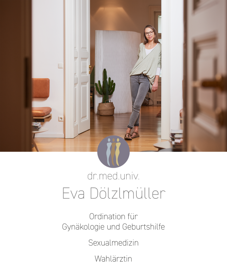 Dölzlmüller Gyn Salzburg Ärztin Dr. Eva Dölzlmüller in ihrer Praxis