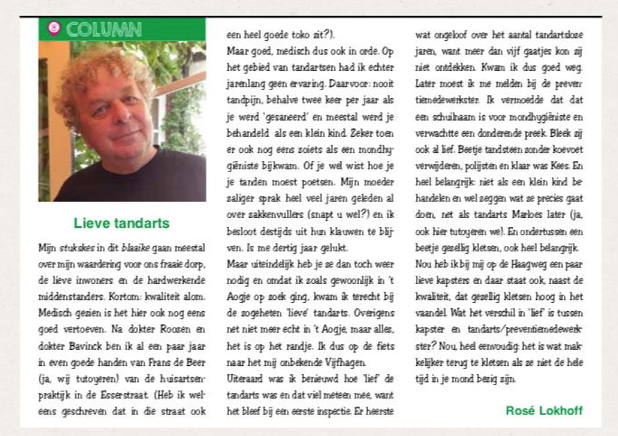 Column Wijkblad Princenhage Breda - Rosé Lokhof