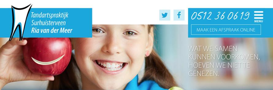 website van lieve Tandarts Surhuisterveen Ria van der Meer