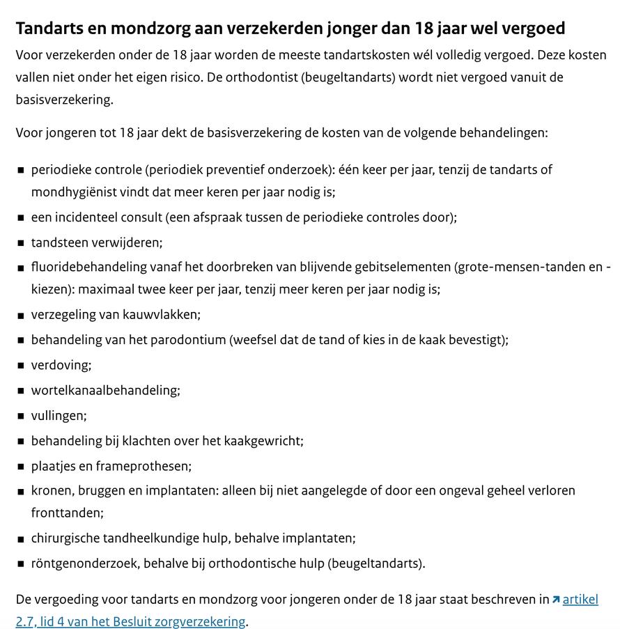Kinderen Gratis Naar De Tandarts Tandarts Nederland