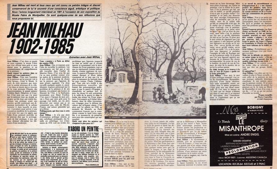 Pierre Courcellet et Joël Jouanneau, entretien avec Jean Milhau  en 1981, Révolution, 17-23 mai 1985