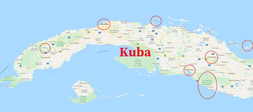 besuchte Orte des Cocktail Cubano
