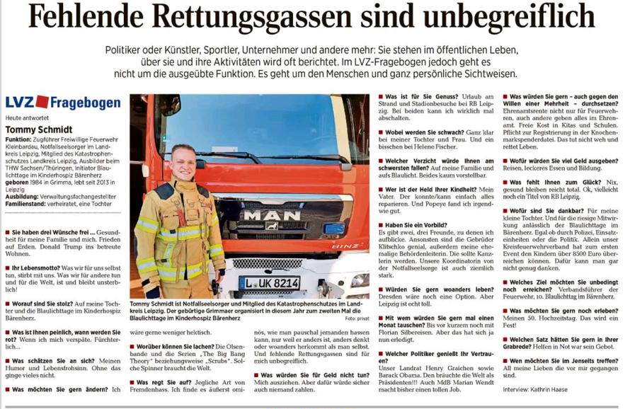 Tommy Schmidt Feuerwehr, KIT