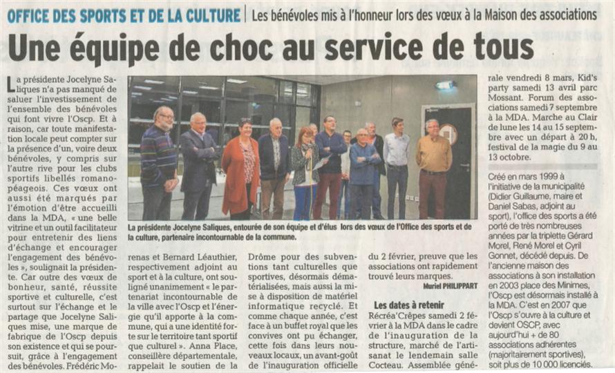 Article du Dauphiné Libéré - MP