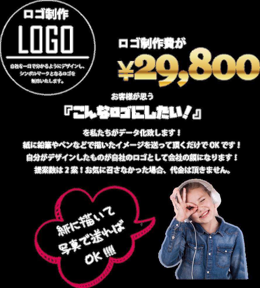 ロゴ制作が29800円