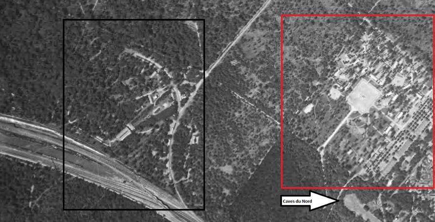 Vue aérienne IGN de 1949 du camp de la Muette à Maisons-Laffitte