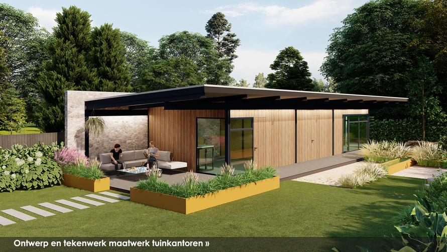 Ontwerp en tekenwerk tuinkamers en tuinkantoren