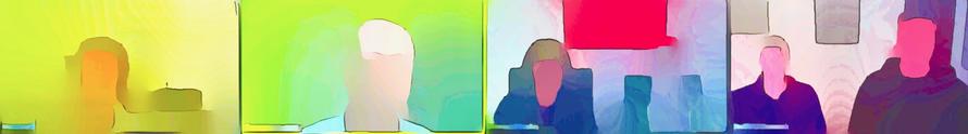 Künstlerisch verfremdete Abbildungen meiner Webinar-Teilnehmer vermitteln Eindrücke der Prozessarbeit in Vsionspsychologie