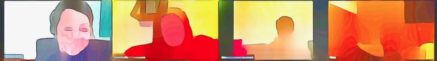 Weiterer künstlerisch verfremdeter Webinar-Screenshot von meiner Prozessarbeit
