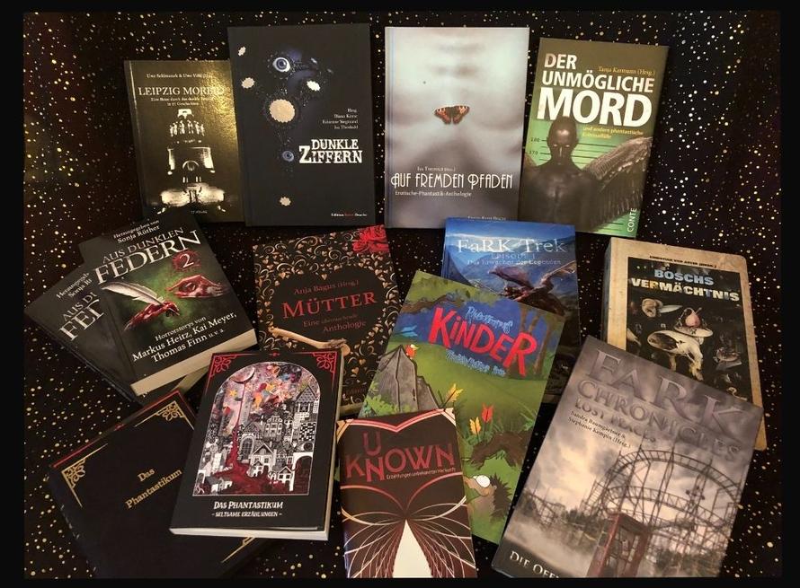 Eine Auswahl von Anthologien, in denen Geschichten von mir zu finden sind. Und jene, die ich herausgegeben habe.