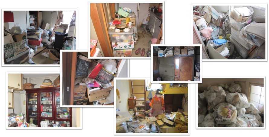 ゴミ屋敷お片付けは日本整理へお任せください|さいたま市|岩槻区|一軒家|実家|アパート|マンション