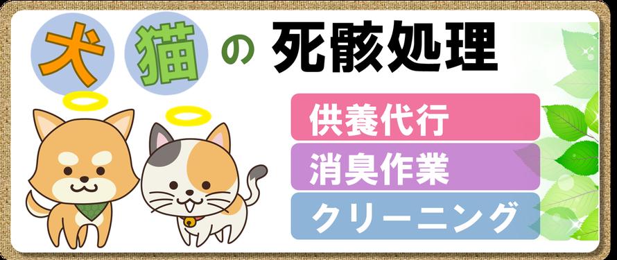 死骸処理|犬|猫|死骸|死体|処理|片付け|腐敗|消臭|クリーニング|小動物|供養代行|腐敗臭|埼玉|茨城|栃木|千葉|東京|群馬