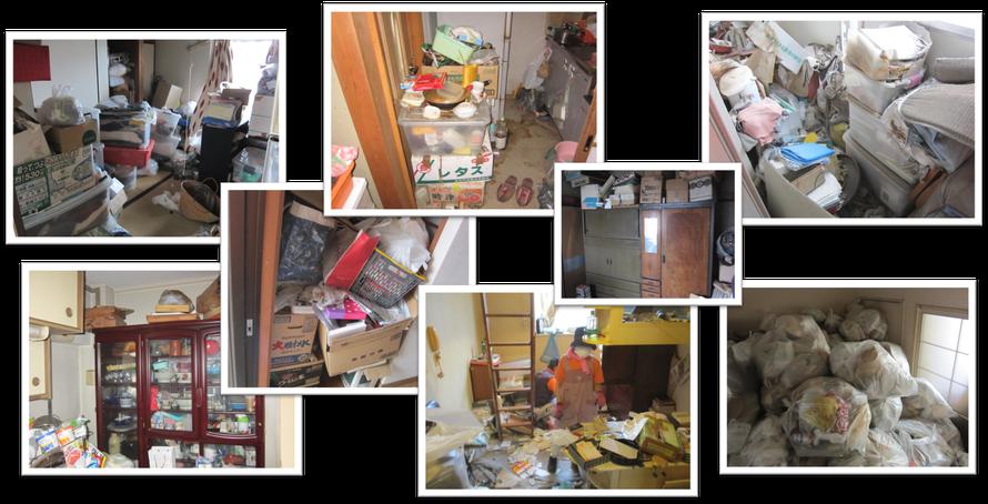 ゴミ屋敷お片付けは日本整理へお任せください|さいたま市|桜区|一軒家|実家|アパート|マンション