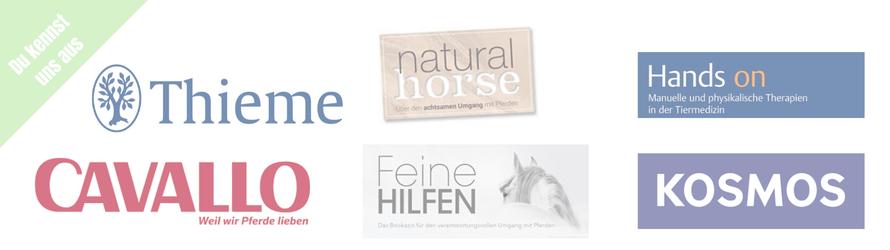 PFERGO - 1. Akademie für Pferdeergotherapie! Du kennst uns aus den Magazinen Cavallo, Natural Horse, Feine Hilfen, Hands on und aus den Verlagen Thieme und KOSMOS.
