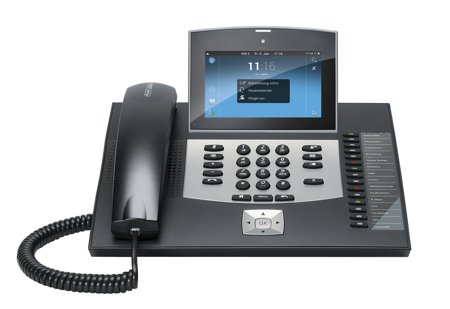 Auerswald Telefonanlage COMfortel 3600 IP schwarz, presented by SafeTech