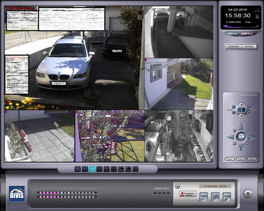 SafeTech Beispiel einer Divis Hybrid Videoüberwachung mit 5Megapixel Kamera und analogen Kameras