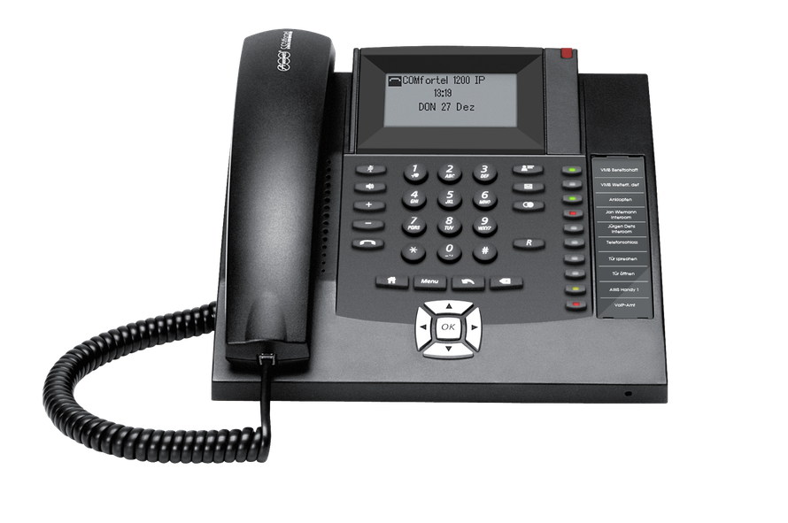 AuerswaldTelefonanlage  COMfortel 1200 IP schwarz, presented by SafeTech