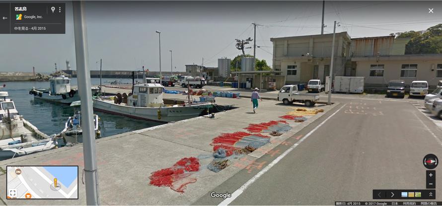 港に広げられた網