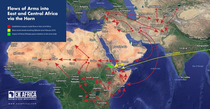 La Chine se positionne activement en tant que fournisseur majeur d'armes sur le continent africain, et intensifie ses expéditions d'armes, via Djibouti, vers des zones de conflit dans la Corne de l'Afrique
