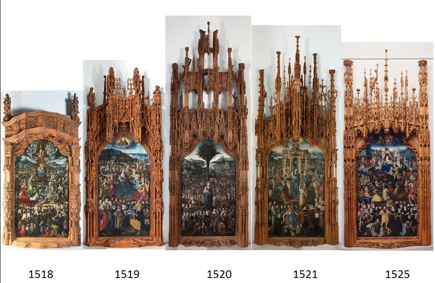 Quelques uns des plus beaux Puys d'Amiens, conservés avec leur cadre d'origine / Montage F. Séguin