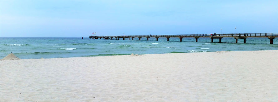 Seebrücke Prerow auf dem Fischland Darß Zingst