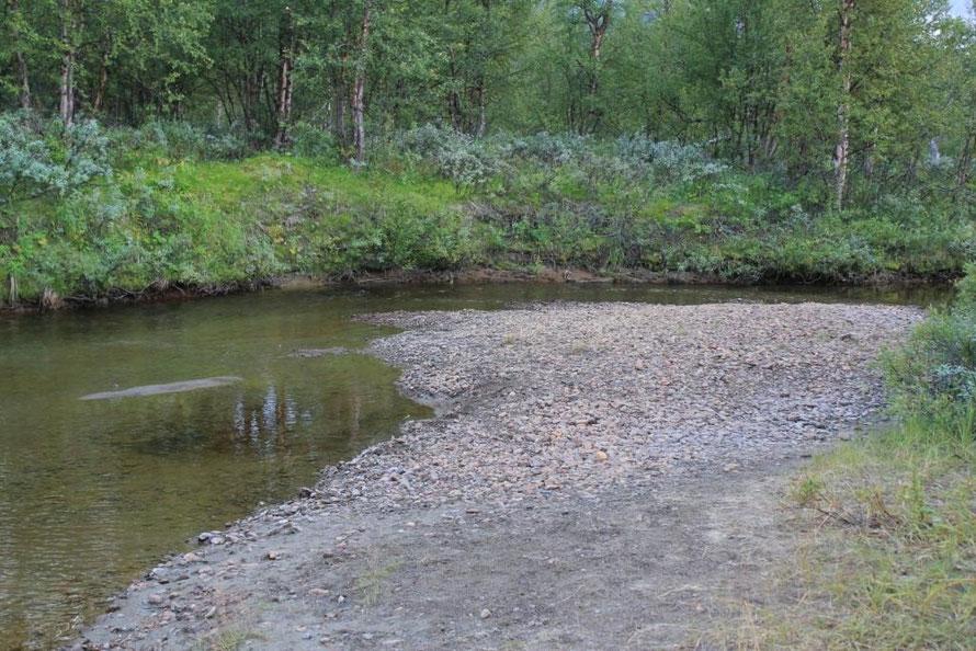 Mein Fluss. Rechts vom Bild ist mein Übernachtungsplatz