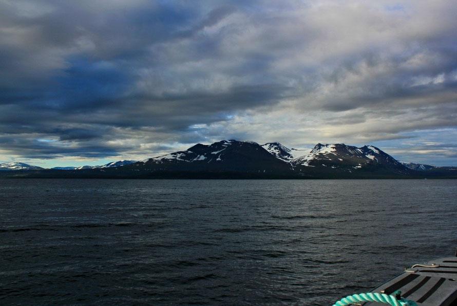 Bild vom Boot auf den Akka