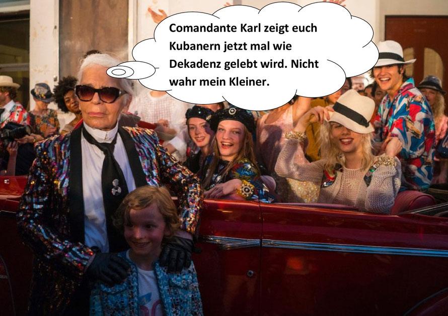 Karl Lagerfeld, Vorsabbler der Dekadenz.