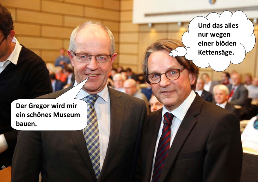 Oberbürgermeister Hans Wilhelm Reiners, Dr. Gregor Bonin. Mönchengladbach