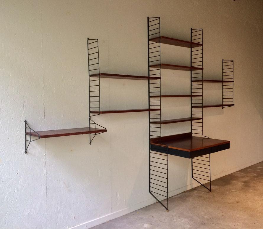 String shelves, étagère string, bureau string, Nisse Strinning