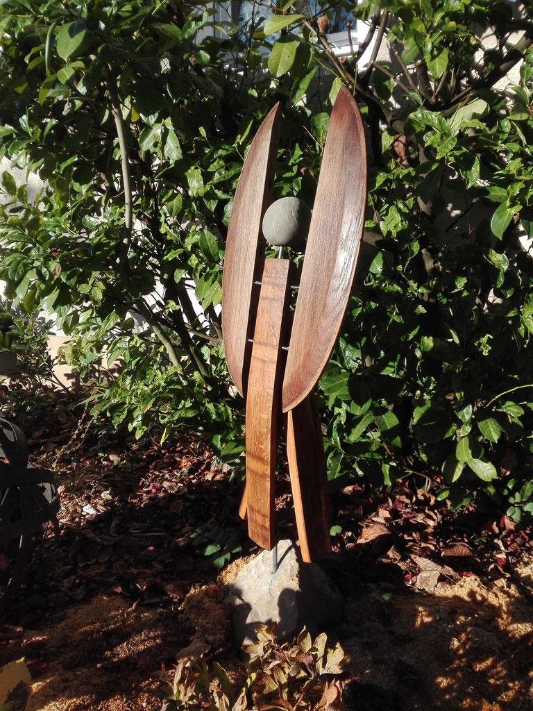 Gartenskulpturen Aus Holzstein Und Metall Udos Art Kunst Aus