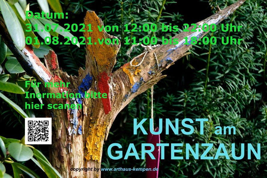 KUNST am GARTENZAUN, Straelen, Rheurdt, Krefeld Hüls, St. Tönis, Kempen, Östereich Millstatt am See,