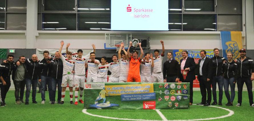 Bayer Leverkusen gewann die Hallenmasters des SSV Kalthof. Foto: Dennis Echtermann