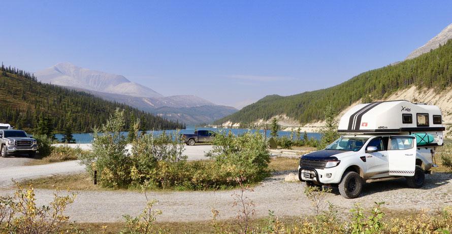 Summit Lake Campground northern Rockies