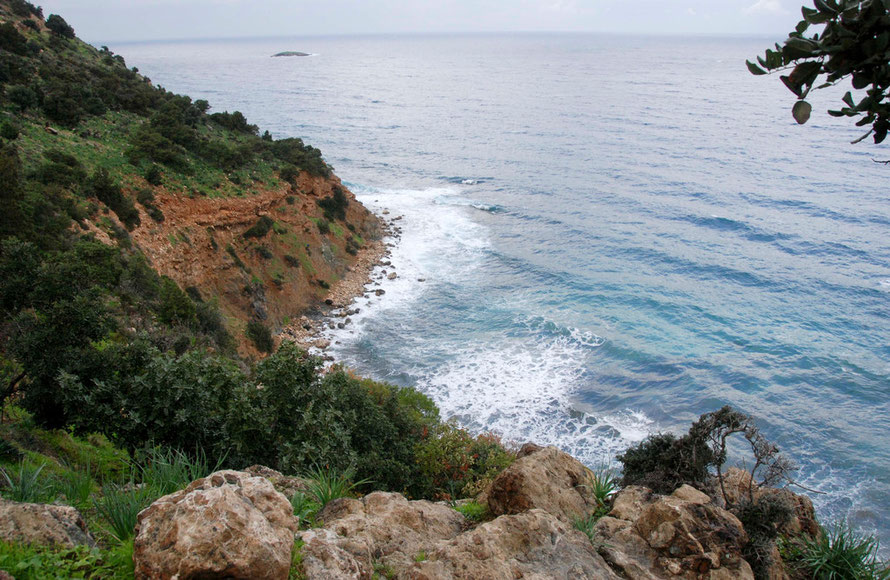 Looking toward Cape Arnaoutis along the Akamas shoreline