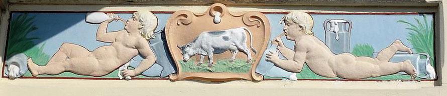 Auchel - Goutte de lait Compagnie des mines de Marles (fronton)