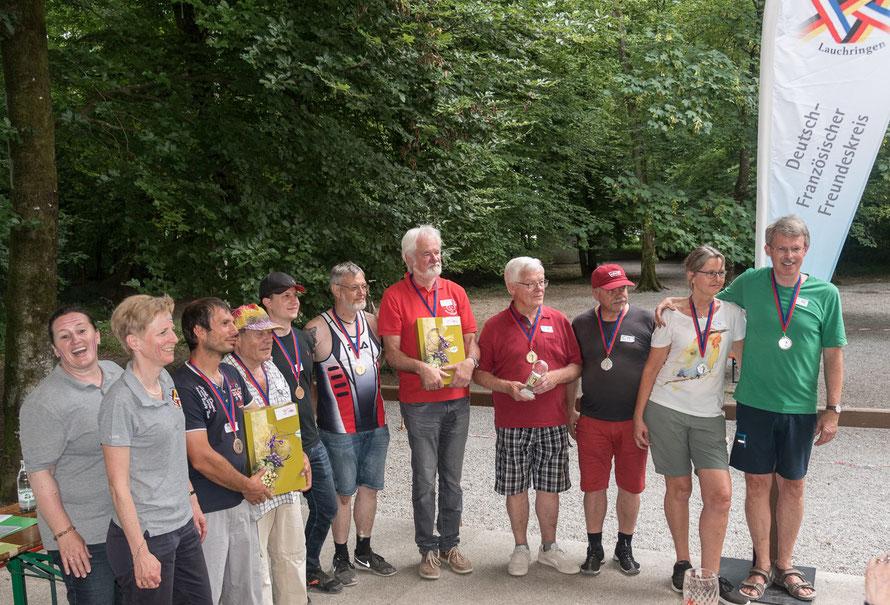 Die Sieger beim Bouleturnier in Lauchringen 2018