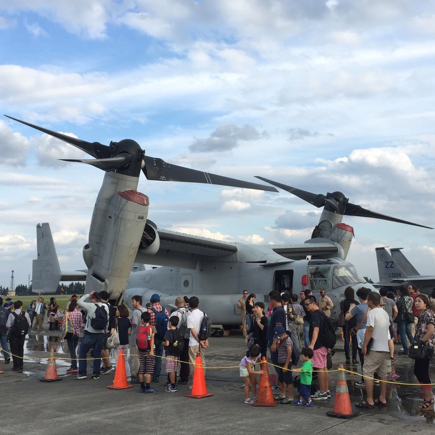 V-22 Osprey at Yokota Air Base Tokyo Fussa aircraft yokota airport friendship festival event TAMA Tourism Promotion - Visit Tama オスプレイ航空機 横田基地 東京都福生市 日米友好祭 多摩観光振興会