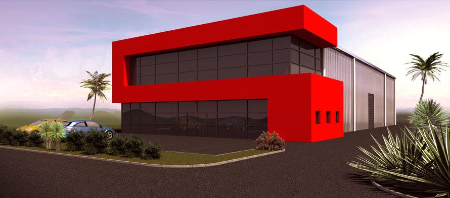 projet de bâtiment industriel en guyane française