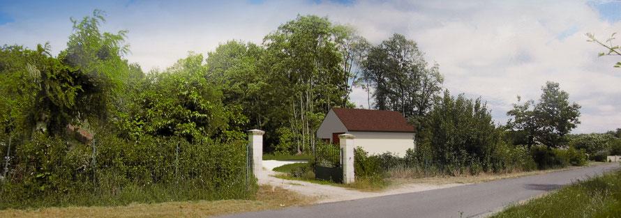 image 3d pour la réalisation d'un permis de construire de garage