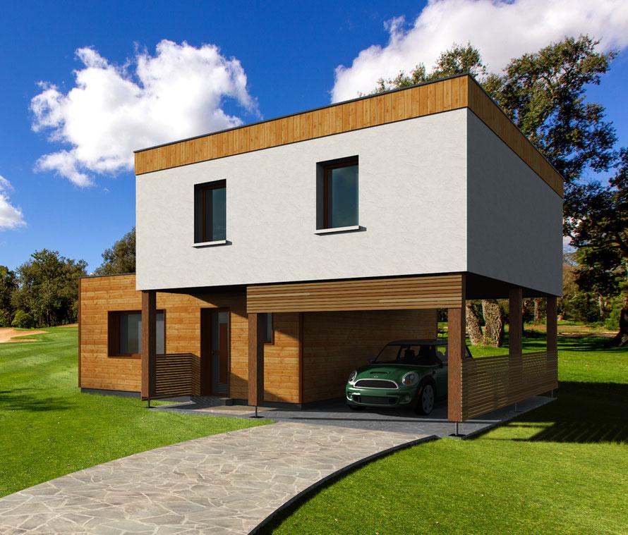 architecture  moderne en 3D, pour un constructeur de l'Yonne