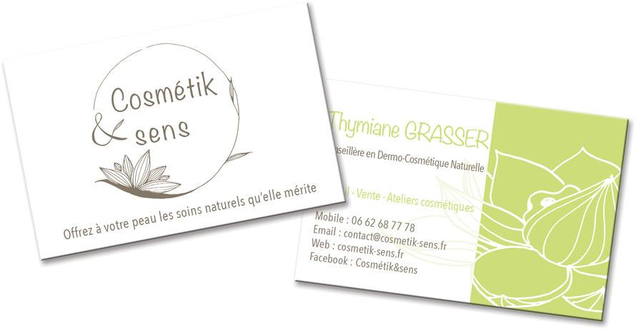 ligne graphique, carte de visite, site internet, graphisme, illustration, nature, cosmétiques, artisanal