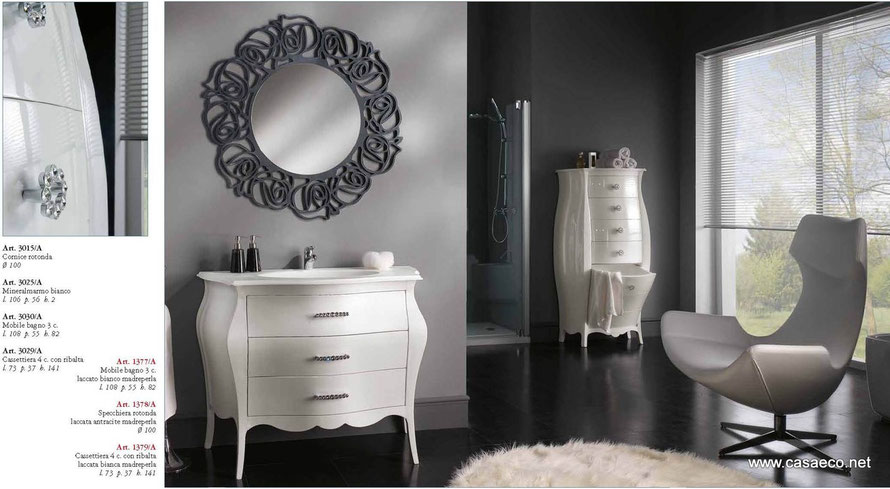 Mobili da bagno arredo bagno casaeco pavimenti e rivestimenti in ceramica rubinetterie per for Composizione piastrelle bagno